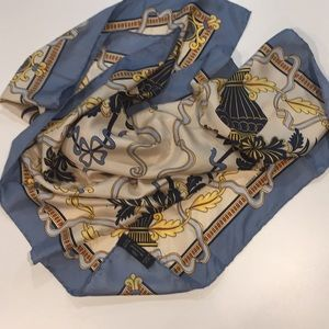 Silk scarf with hand rolled edge by Margo Klass